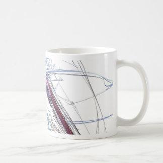 abstract starburst light formation design fractal coffee mug