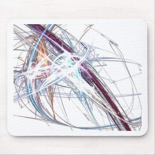 abstract starburst light formation design fractal mouse mat