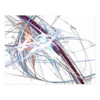 abstract starburst light formation design fractal postcard