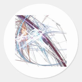 abstract starburst light formation design fractal classic round sticker