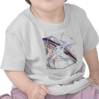 abstract starburst light formation design fractal t shirt