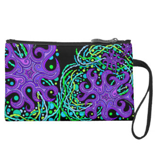 Abstract Starfish Star Life Art Mini Clutch Purse Wristlet Clutches