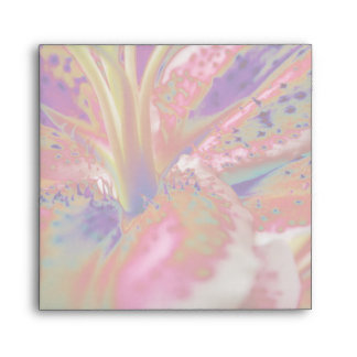 Abstract Stargazer Lily Envelope