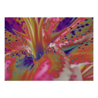 Abstract Stargazer Lily Poster
