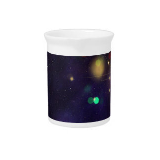 Abstract Starry Background 2 Drink Pitcher