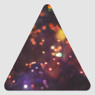 Abstract Starry Background 4 Triangle Sticker