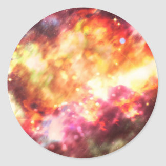 Abstract Starry Background 5 Classic Round Sticker