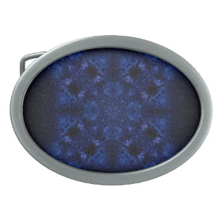 Abstract Starry Sky Oval Belt Buckle