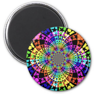 Abstract stars 2 inch round magnet