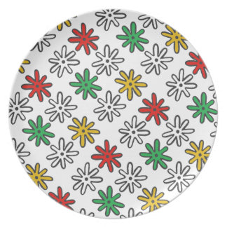 Abstract Stars Holiday Plate