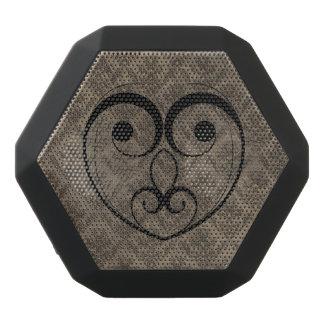Abstract Steampunk Heart Black Bluetooth Speaker