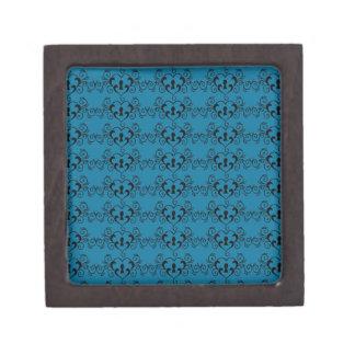 Abstract Steampunk Heart Pattern Jewelry Box