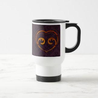 Abstract Steampunk Heart Travel Mug
