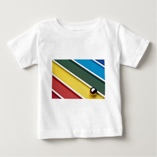 Abstract Steel ball and rods on multicolored acryl T-shirt