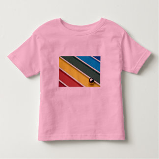Abstract Steel ball and rods on multicolored acryl Tee Shirts