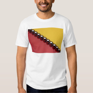 Abstract Steel balls on red and yellow acrylic Shirts