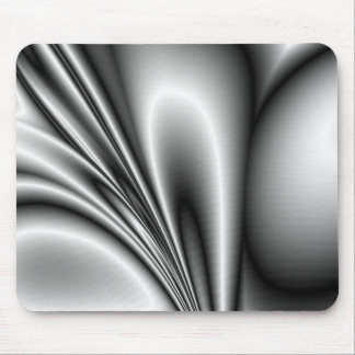 Abstract Steel Waves Metallic Look Mouse Pad