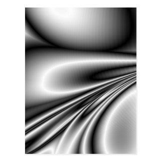 Abstract Steel Waves Metallic Look Post Cards