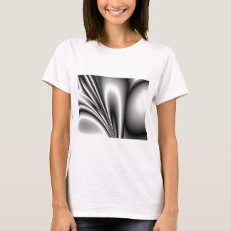 Abstract Steel Waves Metallic Look T-Shirt