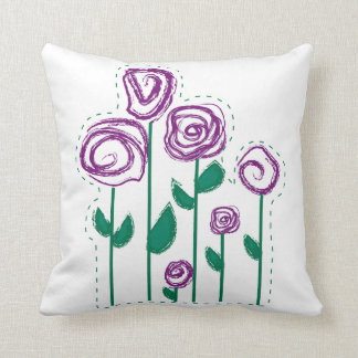 Abstract Stiched Flowers pillow