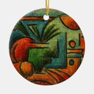 Abstract Still Life Ceramic Ornament