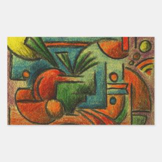 Abstract Still Life Rectangular Sticker