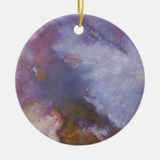 Abstract stone double sided ceramic round christmas