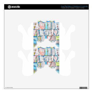 Abstract Stone Wall Decal For PS3 Controller