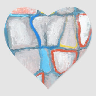 Abstract Stone Wall Heart Sticker