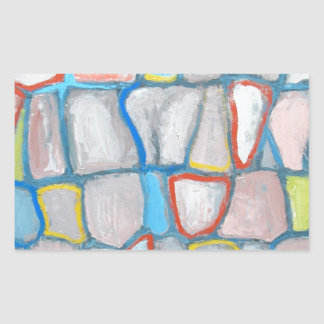 Abstract Stone Wall Rectangular Sticker