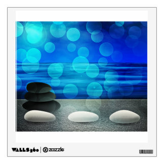 Abstract Stones Background In Blue Wall Decal