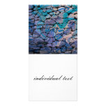 abstract stones blue photo card