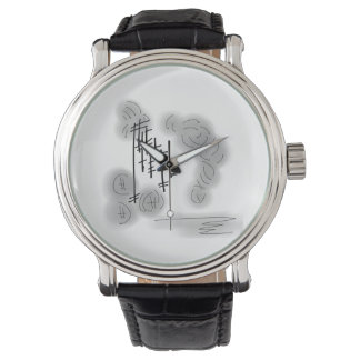 abstract storm wristwatches