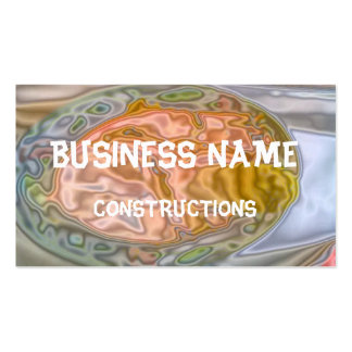 Abstract strange colored pattern business card