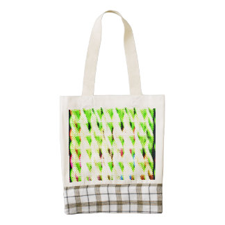 Abstract strange pattern zazzle HEART tote bag
