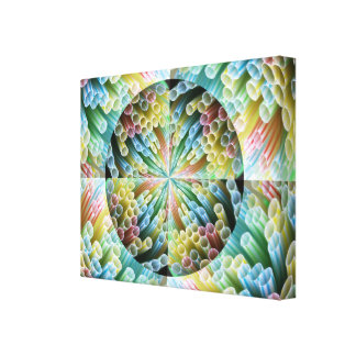 Abstract Straws Wrapped Canvas