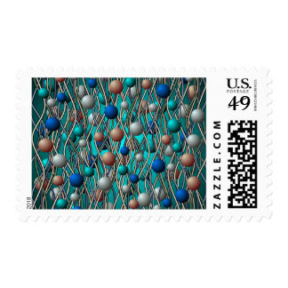 Abstract String Theory Art Postage Stamp