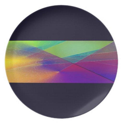 Abstract stripe on black, II Dinner Plate