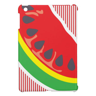 Abstract striped watermelon case for the iPad mini