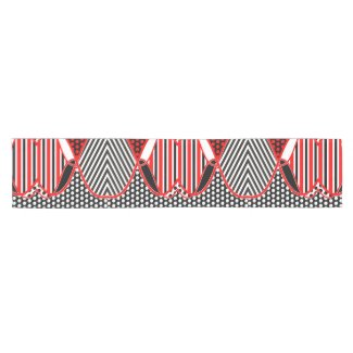 Abstract Stripes Dots Pattern + your ideas Short Table Runner