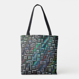 Abstract Stripes Geometry Tote Bag