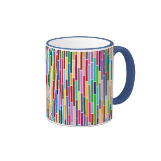Abstract Stripes in Multicolours Mug
