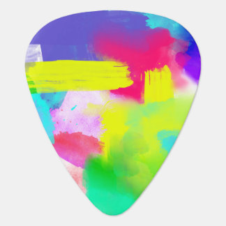 Abstract Stripes Neon Artistic Watercolor Pattern Guitar Pick