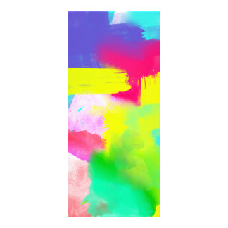 Abstract Stripes Neon Artistic Watercolor Pattern Rack Card