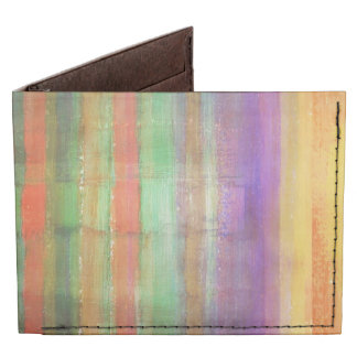 Abstract Stripes Pattern Tyvek® Billfold Wallet