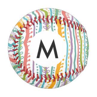 Abstract Stripes Vertical Pattern Baseball