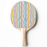 Abstract Stripes Vertical Pattern Ping Pong Paddle