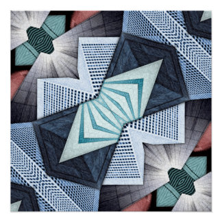 Abstract Structural Collage Poster