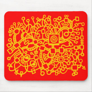 Abstract Structure - Amber on Red Mouse Pad