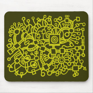 Abstract Structure - Banana on Murky Green Mouse Pad